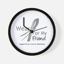Gray Ribbon Friend Wall Clock