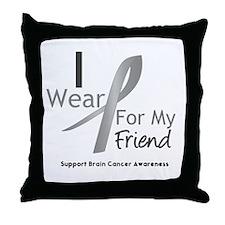 Gray Ribbon Friend Throw Pillow