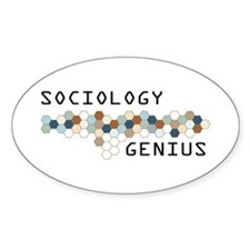 Sociology Genius Oval Decal