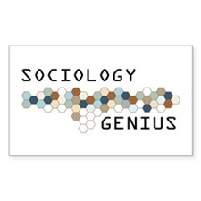 Sociology Genius Rectangle Decal
