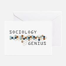 Sociology Genius Greeting Cards (Pk of 20)
