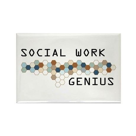 Social Work Genius Rectangle Magnet