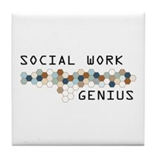 Social Work Genius Tile Coaster