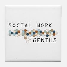 Social Work Genius Tile Coaster
