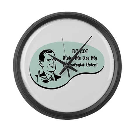 Neurologist Voice Large Wall Clock