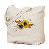 Autumn sunflower Canvas Tote Bag
