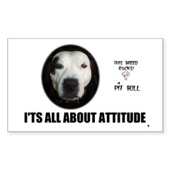 AMERICAN PIT BULL TERRIER Rectangle Decal
