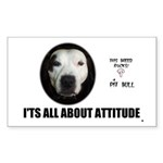 AMERICAN PIT BULL TERRIER Rectangle Sticker