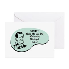 Molecular Biologist Voice Greeting Cards (Pk of 10