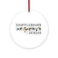 Shuffleboard Genius Ornament (Round)