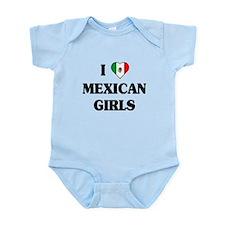 I Love Mexican Girls Infant Bodysuit