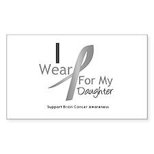 Gray Ribbon Daughter Rectangle Decal