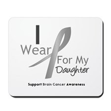 Gray Ribbon Daughter Mousepad