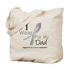 Gray Ribbon Dad Tote Bag