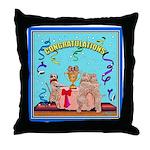 CONGRATULATIONS Wheaten Throw Pillow