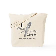 Gray Ribbon Cousin Tote Bag