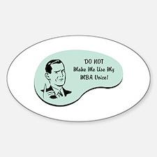 MBA Voice Oval Sticker (10 pk)