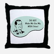MBA Voice Throw Pillow