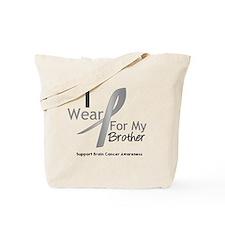 Gray Ribbon Brother Tote Bag
