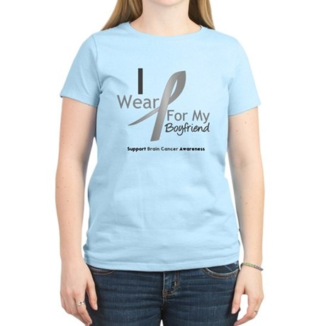Gray Ribbon Boyfriend Women's Light T-Shirt