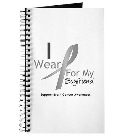 Gray Ribbon Boyfriend Journal