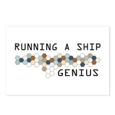 Running a Ship Genius Postcards (Package of 8)