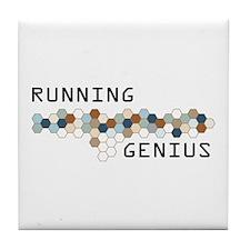 Running Genius Tile Coaster