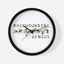 Rockhounding Genius Wall Clock