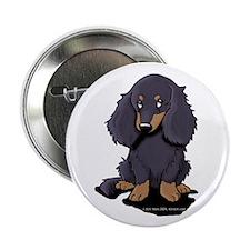 "LH Black/Tan Doxie 2.25"" Button (10 pack)"