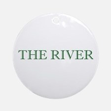 The River Holiday Ornament (Round)
