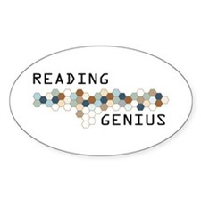 Reading Genius Oval Decal