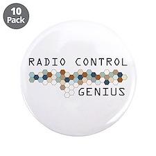 """Radio Control Genius 3.5"""" Button (10 pack)"""
