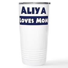 Aliya Loves Mom Travel Mug