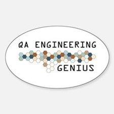 QA Engineering Genius Oval Decal