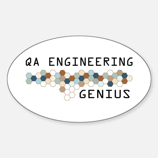 QA Engineering Genius Oval Decal