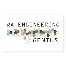 QA Engineering Genius Rectangle Decal