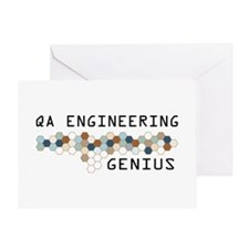 QA Engineering Genius Greeting Card