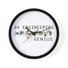 QA Engineering Genius Wall Clock