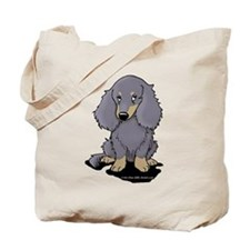 Blue/Cream LH Doxie Tote Bag