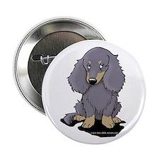 """Blue/Cream LH Doxie 2.25"""" Button (10 pack)"""