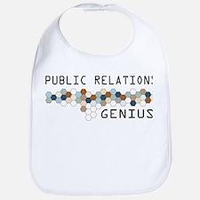 Public Relations Genius Bib