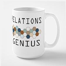 Public Relations Genius Large Mug
