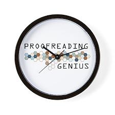 Proofreading Genius Wall Clock