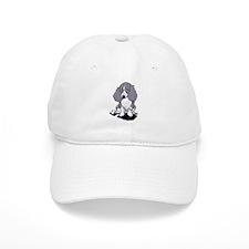 Blue Piebald LH Doxie Baseball Cap