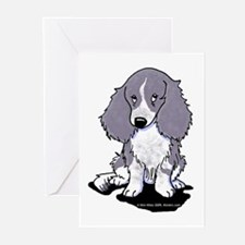 Blue Piebald LH Doxie Greeting Cards (Pk of 20)