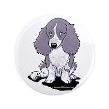 """Blue Piebald LH Doxie 3.5"""" Button (100 pack)"""