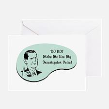 Investigator Voice Greeting Card