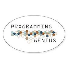 Programming Genius Oval Decal