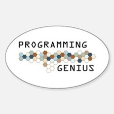 Programming Genius Oval Decal