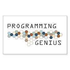 Programming Genius Rectangle Decal